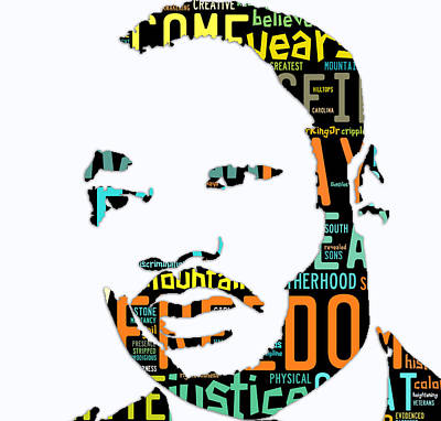 Martin Luther King Jr I Have A Dream Art Print by Marvin Blaine