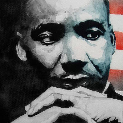 Painting - Martin Luther King Jr- I Have A Dream  by Paul Lovering