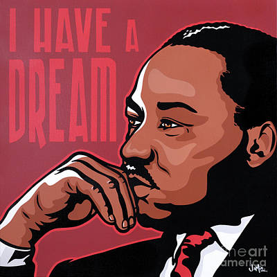 Painting - Martin Luther King Jr by James Lee