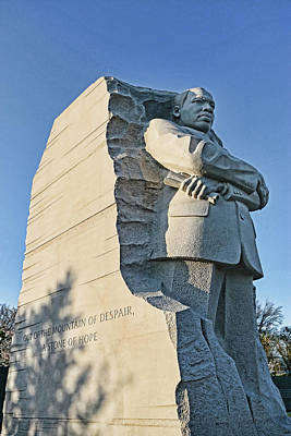 Photograph - Martin Luther King Jr Memorial # 5 by Allen Beatty