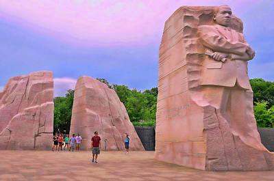 Photograph - Martin Luther King Jr Memorial # 6 by Allen Beatty