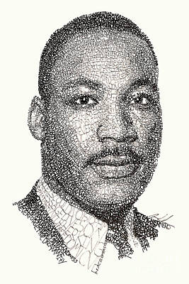 Drawing - Martin Luther King Jr by Michael Volpicelli
