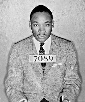 Photograph - Martin Luther King Jr Mug Shot by Tony Rubino