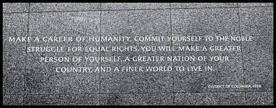 Photograph - Martin Luther King Jr  Quote # 4 by Allen Beatty