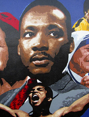 Valdes Painting - Martin Luther King, Jr. by Roberto Valdes Sanchez