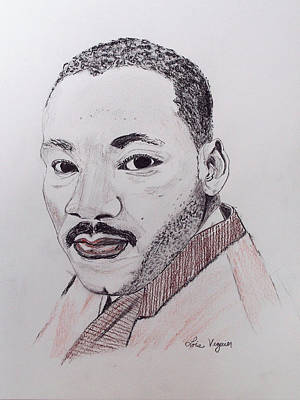 Martin Luther King Drawing - Martin Luther King by Lois Viguier