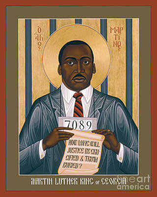 Painting - Martin Luther King Of Georgia  - Rlmlk by Br Robert Lentz OFM