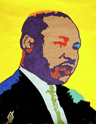 Painting - Martin Luther King  by Stormm Bradshaw