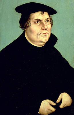 Martin Luther  Art Print by Lucas the elder Cranach