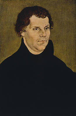 Lutheran Painting - Martin Luther Painting  by War Is Hell Store