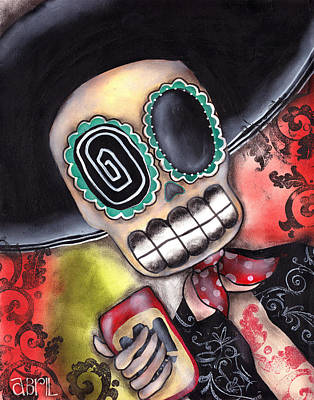 Gothic Painting - Martin Mariachi by  Abril Andrade Griffith
