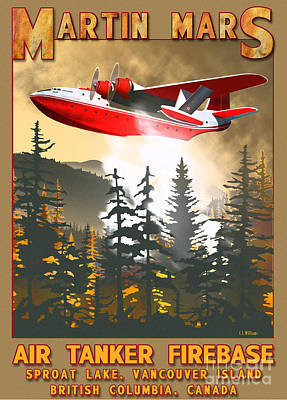 Martin Mars Air Tanker Art Print by Christopher Williams