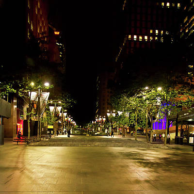 Photograph - Martin Place At Night by Miroslava Jurcik