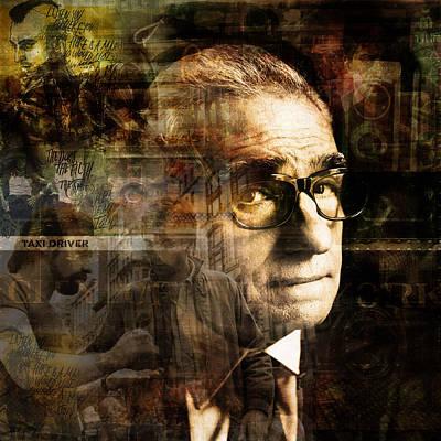 Figurativ Digital Art - Martin Scorsese by Badelli Bros