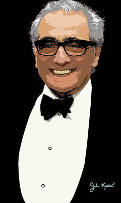 Digital Art - Martin Scorsese by John Keaton
