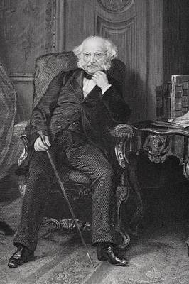 Sly Drawing - Martin Van Buren 1782 To 1862. 8th by Vintage Design Pics