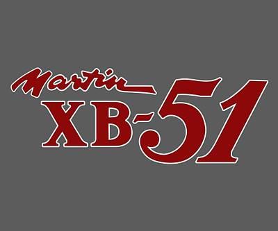 Digital Art - Martin Xb-51 Nose Art T-shirt by John Matthews