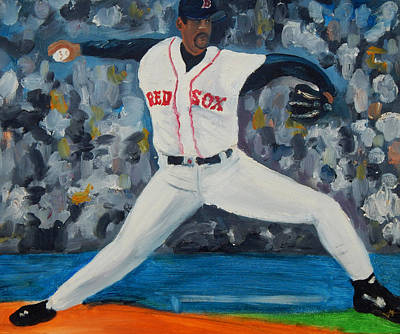 Ny Yankees Painting - Martinez In Stride by Jorge Delara