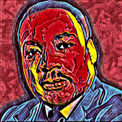 Martin Luther King Jr. Portrait Art Print
