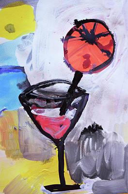 Painting - Martini And Orange by Amara Dacer
