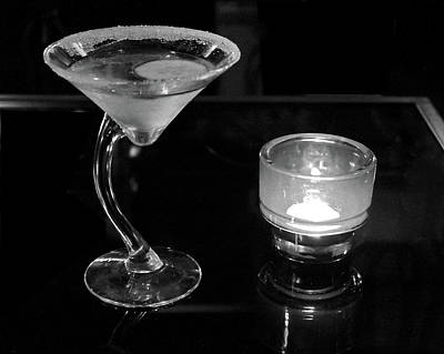 Martini Royalty-Free and Rights-Managed Images - Martini by Candlelight by Ira Marcus