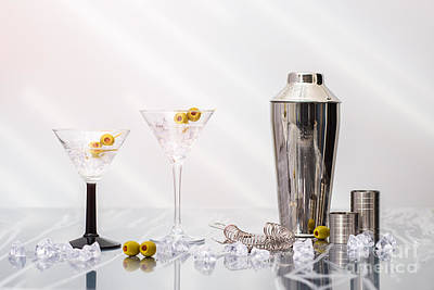 Glass Art Photograph - Martini Cocktails by Amanda Elwell