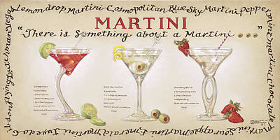 Stemware Painting - Martini Collection by Janet  Kruskamp