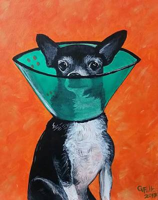 Martini Paintings - Martini Cone by Genny Fultz