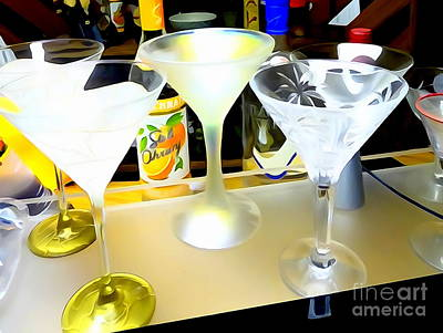 Digital Art - Martini Glasses by Ed Weidman