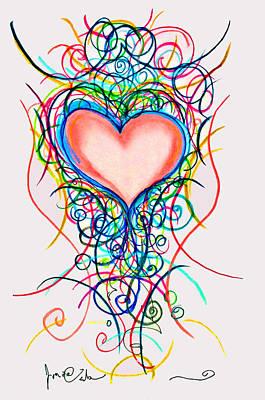Martini Heart Art Print by Jon Veitch