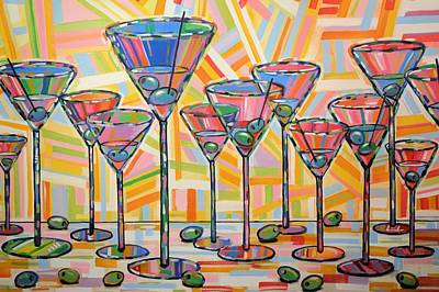 Painting - Martini Hour by Amy Giacomelli
