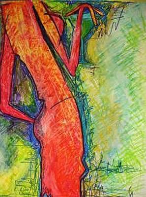 Cosmopolitan Drawing - Martini Lady by Janice Webb
