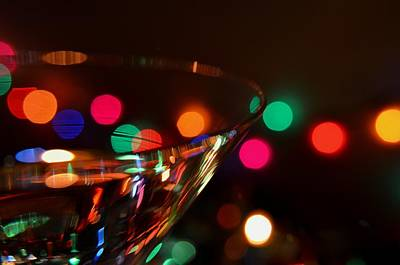 Martini Royalty-Free and Rights-Managed Images - Martini Lights 1 by Barbara Matthews