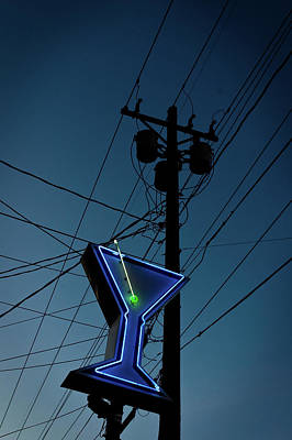 Photograph - Martini Neon by Bud Simpson