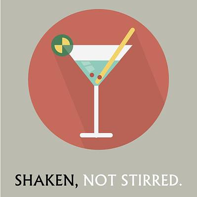 Painting - Martini Poster Print - Shaken, Not Stirred by Beautify My Walls
