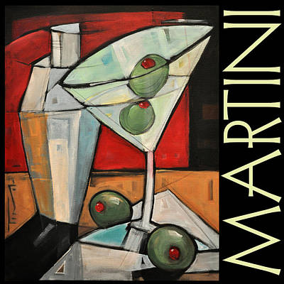 Painting - Martini Poster by Tim Nyberg