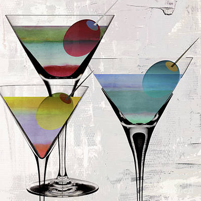 Bar Decor Painting - Martini Prism by Mindy Sommers