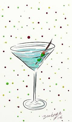 Martini Painting Royalty Free Images - Martini Time  Royalty-Free Image by Barbara Stanley