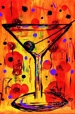 Bistro Painting - Martini Twentyfive Of Sidzart Pop Art Collection by Sidra Myers