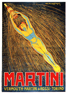 Mixed Media - Martini - Vermouth - Martini And Rossi - Vintage Advertising Poster by Studio Grafiikka
