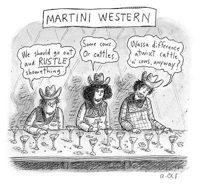 Drawing - Martini Western by Roz Chast