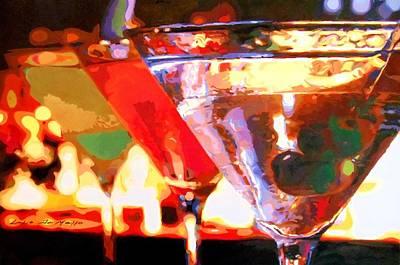 Martini Paintings - Martinis by Lelia DeMello