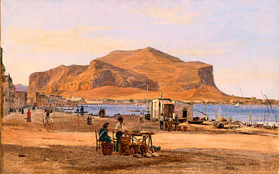People Painting - Martinus Rorbye Palermo Harbor by MotionAge Designs