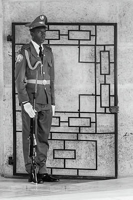 Photograph - Martis Sentry Bw by Dawn Currie