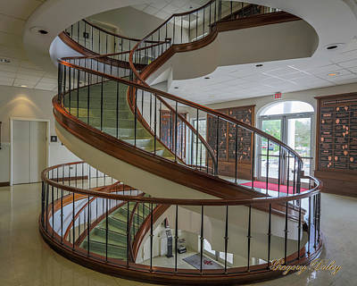 Photograph - Marttin Hall Spiral Stairway 2 by Gregory Daley  PPSA