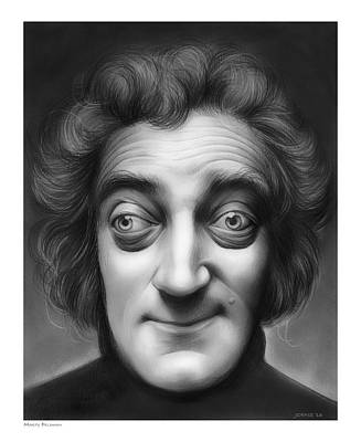 Frankenstein Drawing - Marty Feldman by Greg Joens