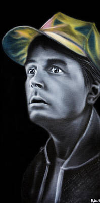 Marty Painting - Marty Mcfly by PoDo
