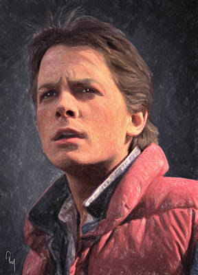 Marty Painting - Marty Mcfly by Taylan Apukovska