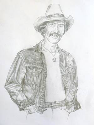 Painting - Marty Robbins by Bryan Bustard