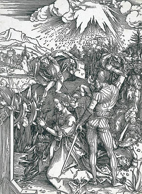 Martyrdom Of Saint Catherine Art Print by Albrecht Durer